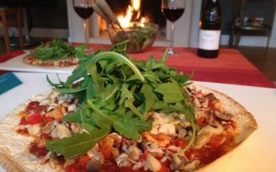 Homemade 'pizza' in 10 minuten