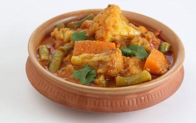 Curry met bloemkool en kikkererwten