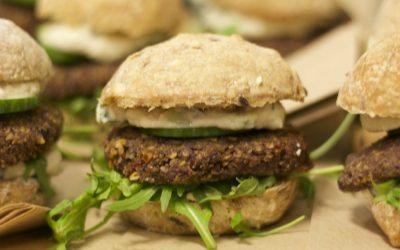 Vegan linzen burger