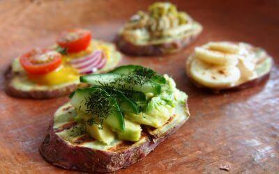 4 x toast van zoete aardappel