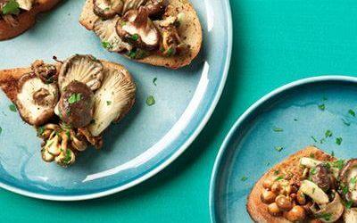 Bruschetta met paddenstoelen en tijm