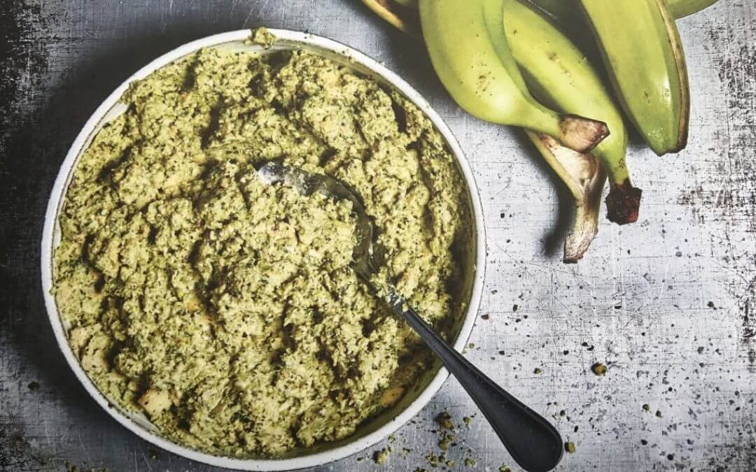 Groene Burgers: groene bananen guacamole