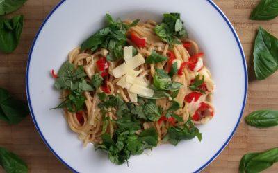 Snelle pasta: spaghetti aglio olio
