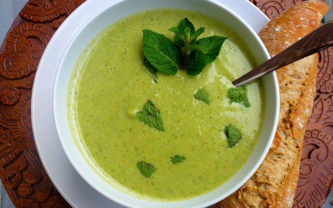 Broccoli soep met munt