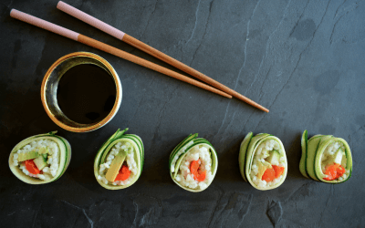 TRENDING: Vegan courgette sushi