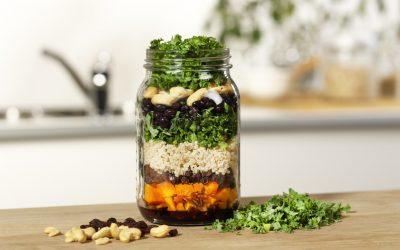 Winterse salade met pompoen en boerenkool