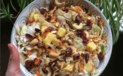 Lezersrecept: Quinoasalade met mango, cashewnoten en cranberry's