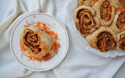 PASEN: vegan carrot cinnamon rolls