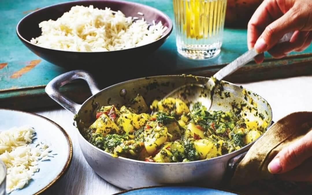 Indiase keuken: Saag aloo