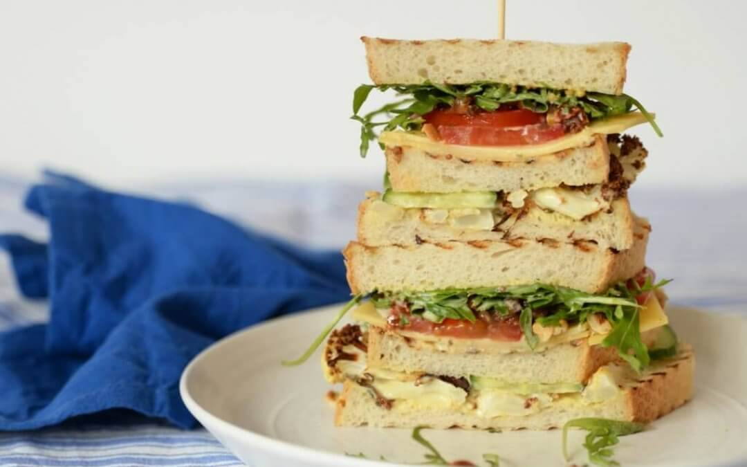 Vegetarische Club Sandwich