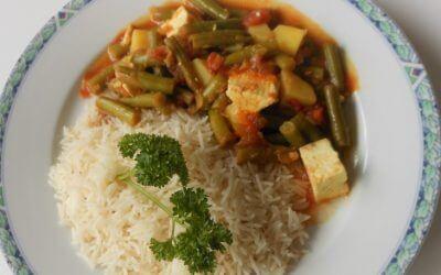 Vega vleesklassieker: sperziebonen curry