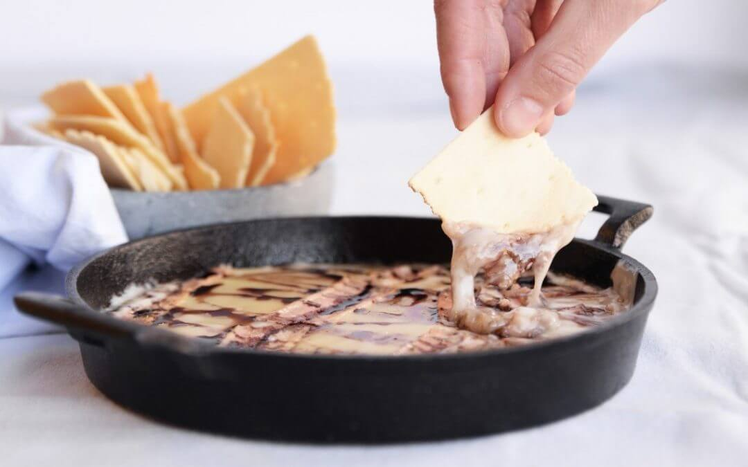 Barbecue: gerookte taleggio kaas